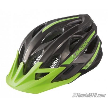 Casco Limar 545 negro y verde