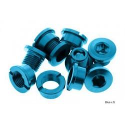 Tornillos cortos de platos aluminio azul