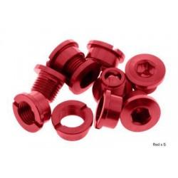 Tornillos cortos de platos aluminio rojos