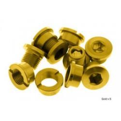 Tornillos cortos de platos aluminio dorados
