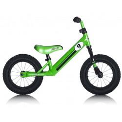 """Bicicleta aprendizaje Rebel Kidz 12,5"""" Air Acero, verde"""