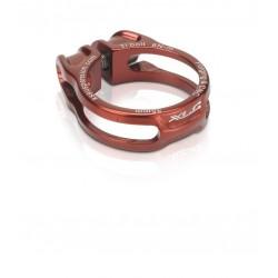 Cierre de tija ultraligero XLC con tornillo titanio Rojo