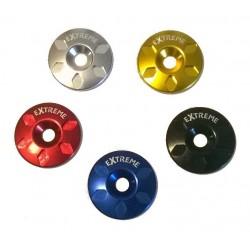 Tapa de dirección y araña aluminio colores 1 1/8