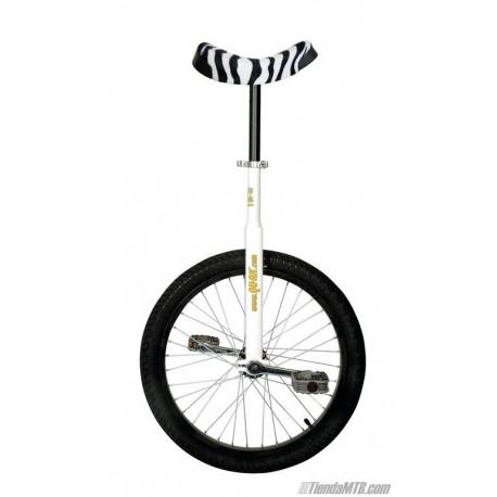 """Monociclo QU-AX Luxus rueda de 20"""" blanco cebra"""