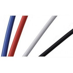 White BRACKO Outer Casing for Brake Cables with teflon 2,5 meters