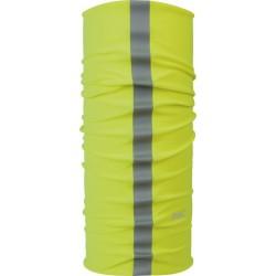 Braga para cuello P.A.C. Reflector de microfibra amarillo neon
