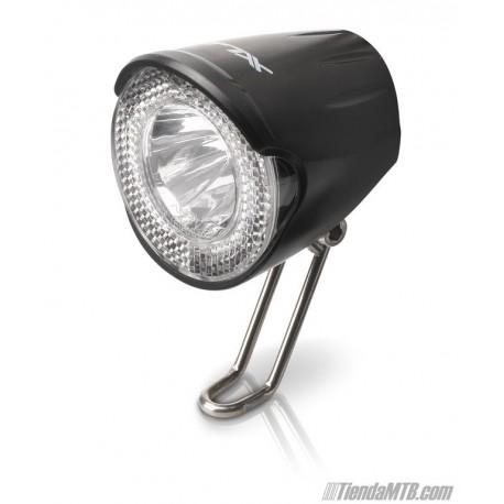 XLC Faro LED 20lux para dinamo con luz de posición