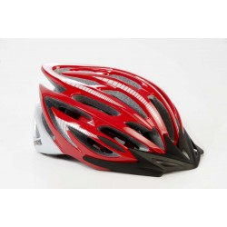 Extreme E2 helmet with visor red and white