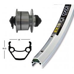 """Rueda delantera de 26"""" con buje dinamo Shimano DH3D72 para freno de disco Centerlock y cierre rápido"""