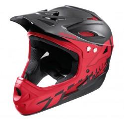 Alpina Fullface Enduro helmet titanium & red color