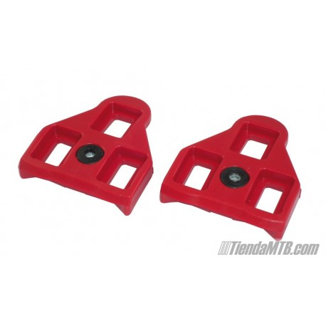 Calas repuesto Xpedo para pedales Look 9º Rojas