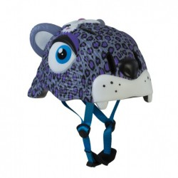 Casco infantil Crazy Safety Leopardo Lila