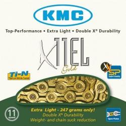 Chain KMC X-11-EL-Gold reinforced 11v golden