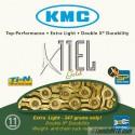Cadena KMC X-11-EL-Oro reforzada 11v dorada