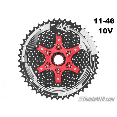 Cassette 11-46T Sunrace MX8 10 velocidades