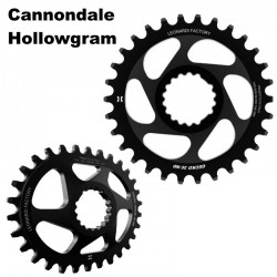 Plato Direct Mount Leonardi Gecko para Cannondale Hollowgram 11v y 12v Redondo u Ovalado