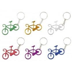 Llavero con forma de bicicleta en aluminio anodizado varios colores