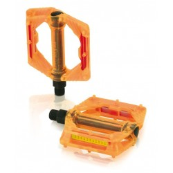 Pedal plataforma plástico naranja
