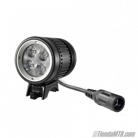 Foco LED 1600 lúmenes con batería y accesorios