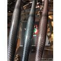 Manillar de fibra de carbono con hilo de color rojo, azul o plata (740mm)