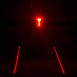 Luz trasera LED con laser de carril