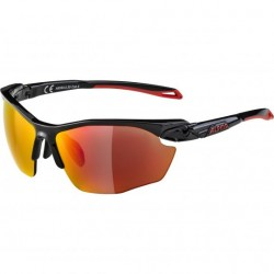 Gafas Alpina TWIST FIVE HR Cat 3 Negro-Rojo