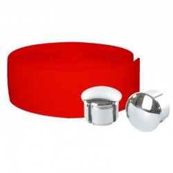 Cinta de manillar VELOX Maxi Cork roja