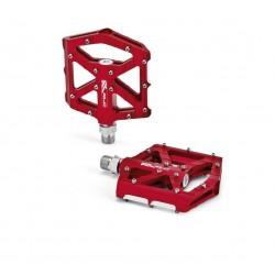 Pedales plataforma extraplanos XLC PD-M12 Aluminio Rojo