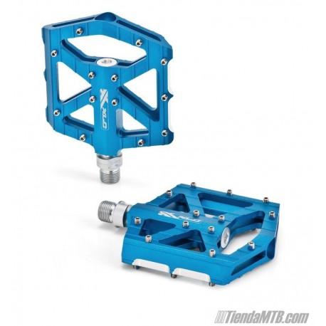 Pedales plataforma extraplanos XLC PD-M12 Aluminio Azul