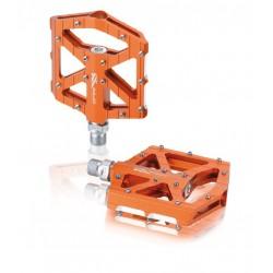 Pedales plataforma extraplanos XLC PD-M12 Aluminio Naranja