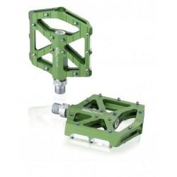 Pedales plataforma extraplanos XLC PD-M12 Aluminio Verde